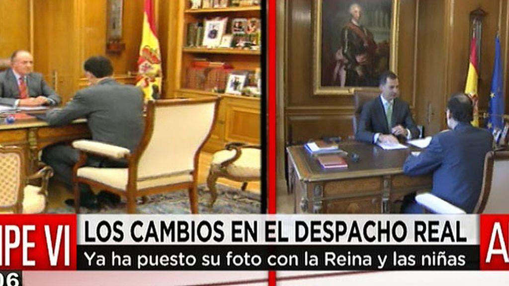 Felipe VI estrena despacho y recibe la visita de Mariano Rajoy