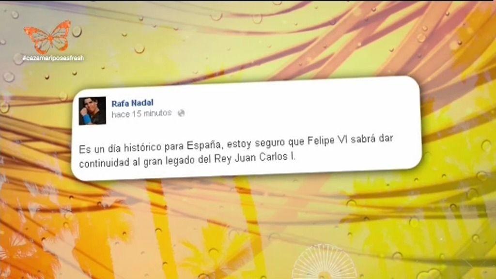 """Rafa Nadal: """"Felipe VI sabrá dar continuidad al gran legado del Rey Juan Carlos I"""""""