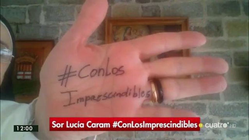"""Sor Lucía Caram: """"Son muchos los voluntarios que se dedican a dar oportunidades, son ellos los impresicindibles"""""""
