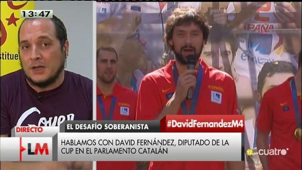 """D. Fernández: """"Al PP se le ha olvidado decir que los Gasol apoyan el derecho a decidir"""""""