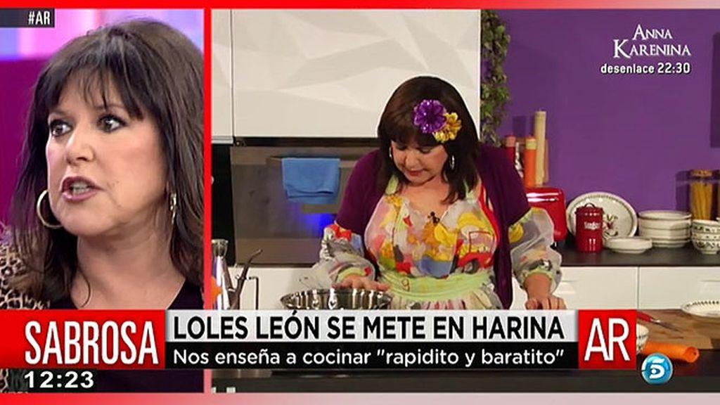 Loles León presenta su libro de cocina