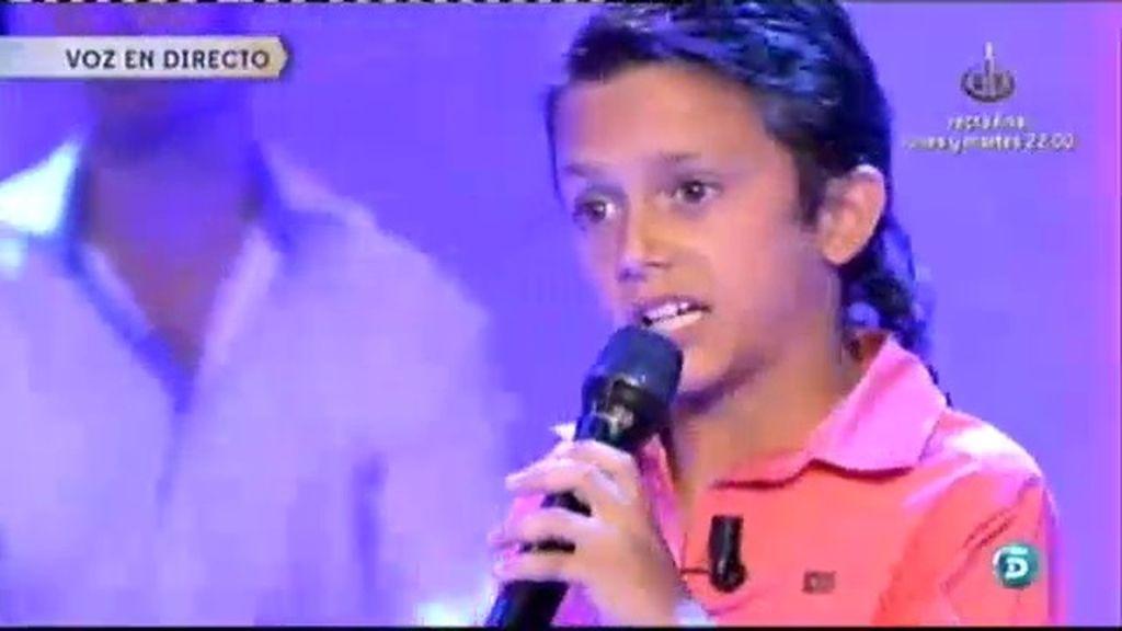 Raúl 'El Balilla' cumple el sueño de su madre cantando por Rocío Jurado
