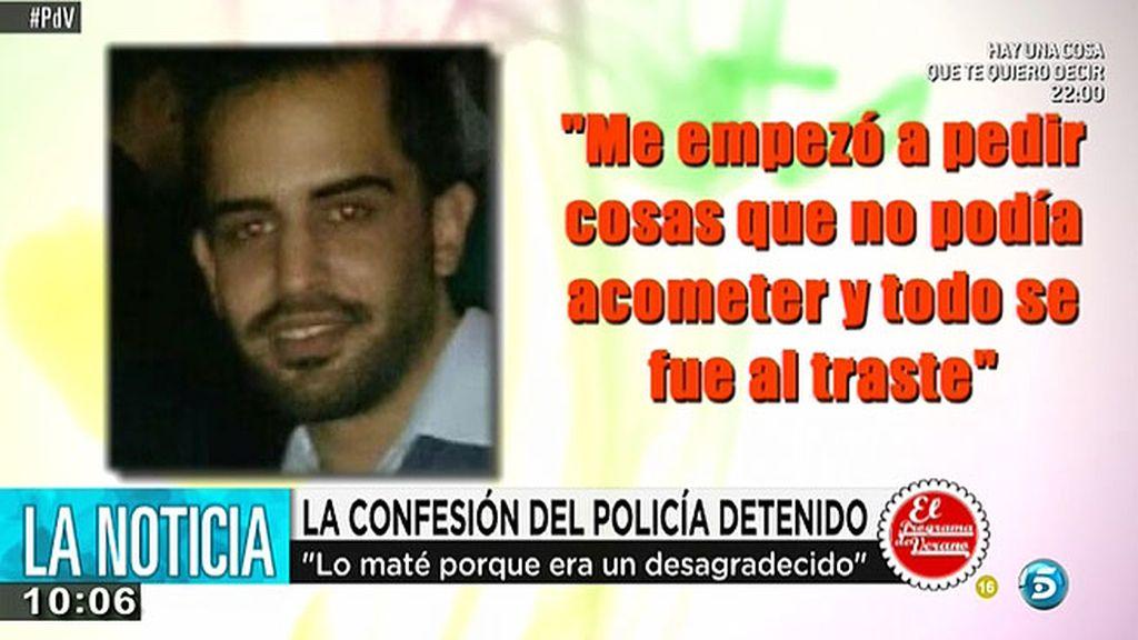 """El policía detenido por asesinar a su socio: """"Le porque no quería ser su camarero"""""""""""