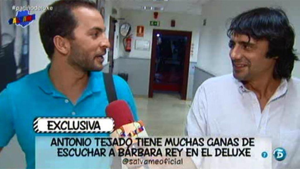 Antonio Tejado, a la espera de la entrevista de Bárbara Rey en el 'Deluxe'