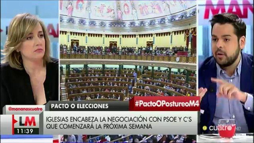 """F. Páramo (C's): """"Pablo Iglesias está perdiendo credibilidad, la poca que tenía"""""""