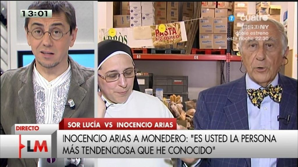"""Inocencio Arias, a Monedero: """"Añado su nombre a mi lista de personas tendenciosas"""""""