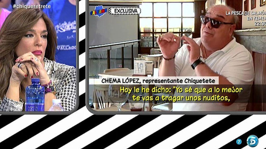 Chiquetete quiere retomar la relación con su hijo Manuel, según su representante