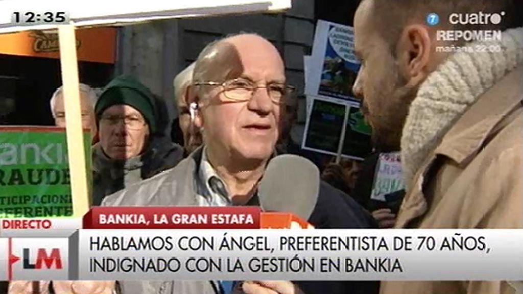 """Ángel, preferentista de 70 años: """"Me han robado todos mis ahorros"""""""