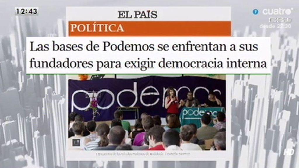 Las bases de Podemos se enfrentan y exigen una democracia interna, según 'El País'