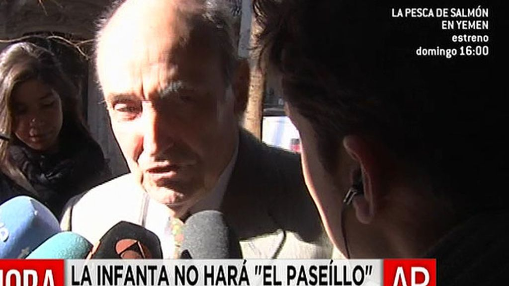Roca, abogado de la Infanta, esquivo con la prensa