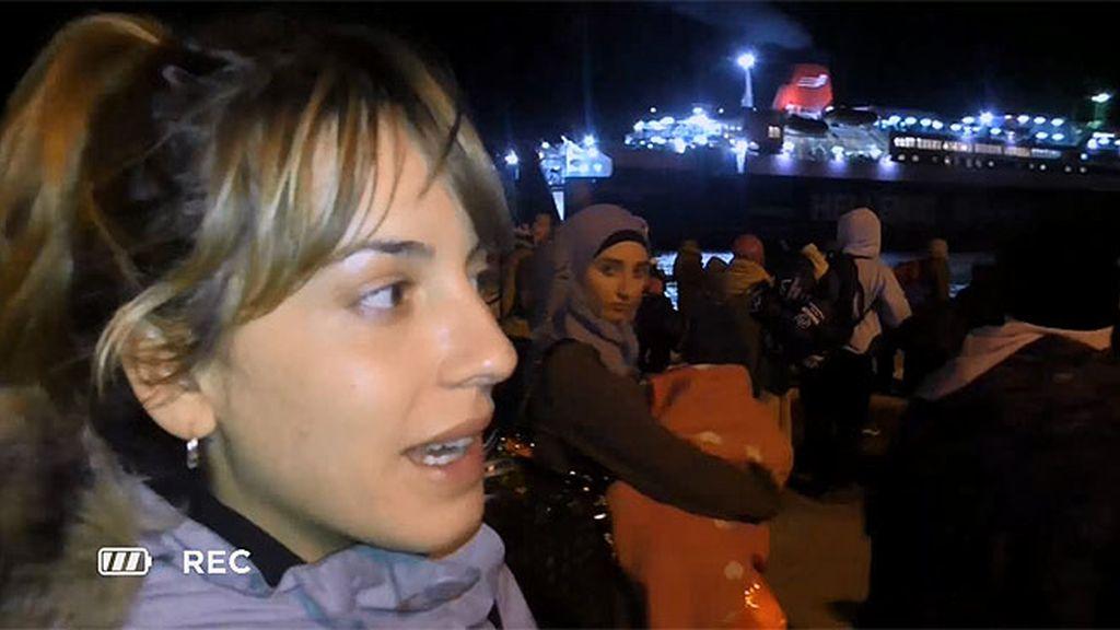 De noche y con mal tiempo el trayecto de los refugiados es más económico