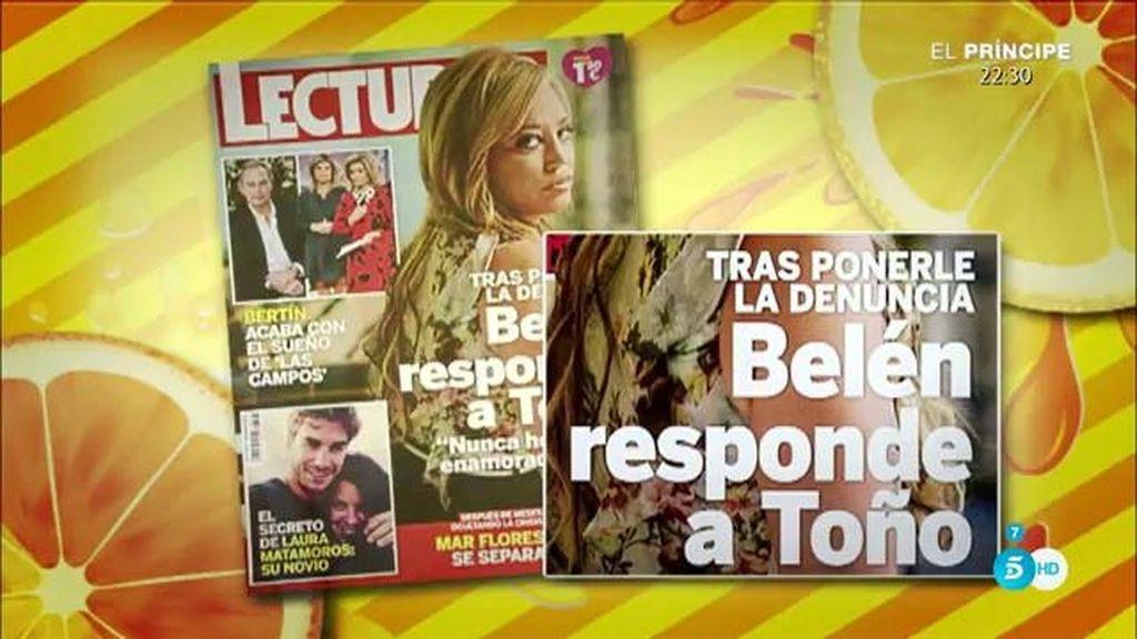 """Belén Esteban: """"Toño Sanchís no ha demandado a nadie"""""""