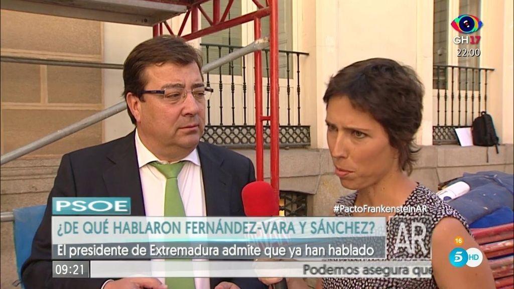 De qué han hablado Guillermo Fernández Vara y Pedro Sánchez