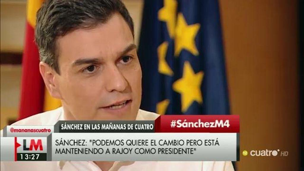"""Pedro Sánchez, de una hipotética vicepresidencia de Pablo Iglesias: """"No me cierro a ninguna formulación"""""""