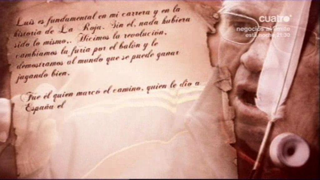 Xavi Hernández escribe una emotiva carta de despedida a Luis Aragonés