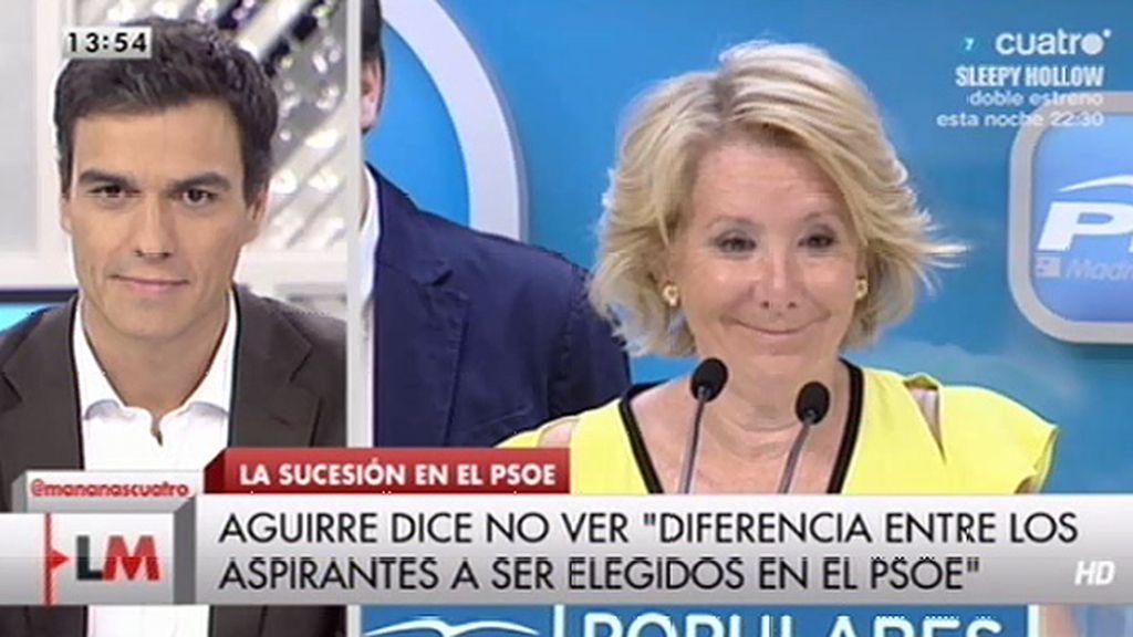 """Pedro Sánchez, de Aguirre: """"Desde que cogió ese coche y salió huyendo no da una"""""""
