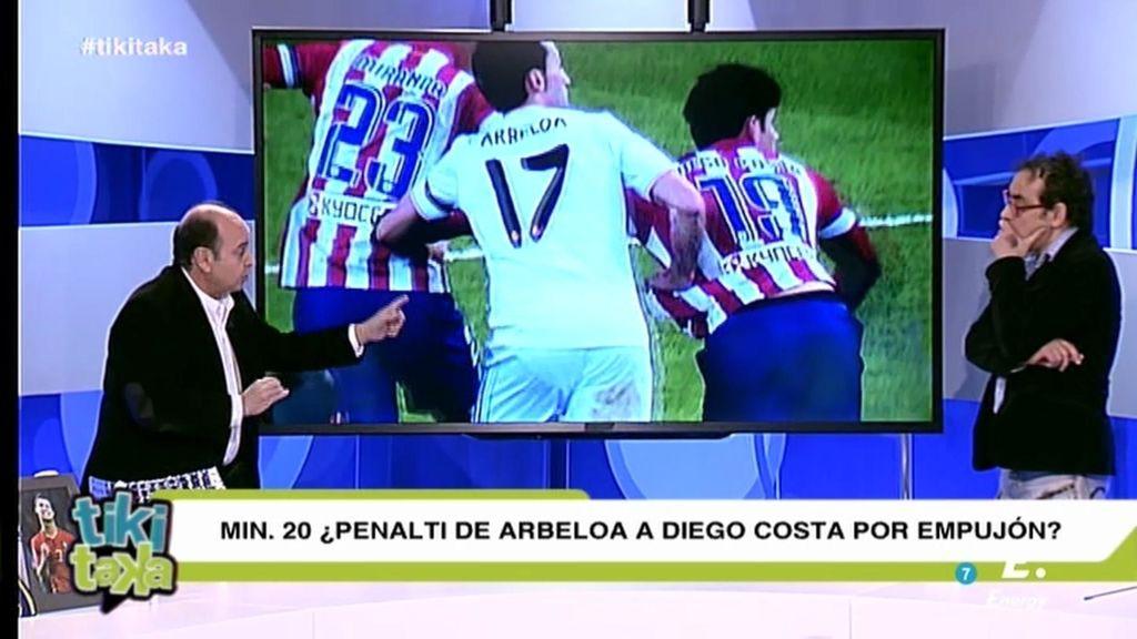"Iturralde: ""Hay penalti de Arbeloa a Costa"""
