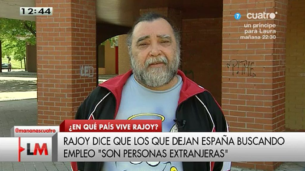 """Miguel, parado desde hace 5 años: """"España sólo va bien para políticos y banqueros"""""""