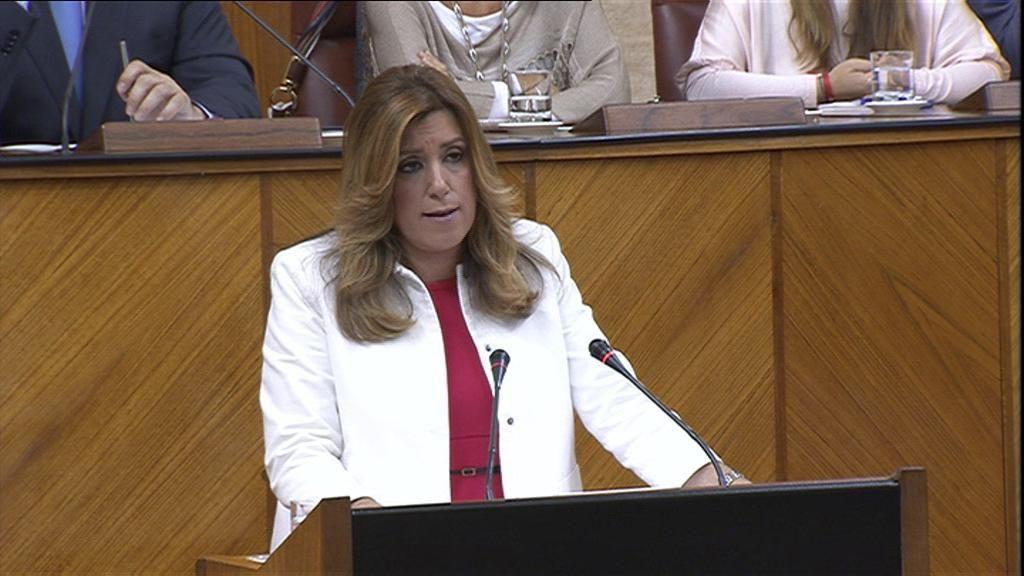 Guiños y concesiones a Podemos y Ciudadanos en el discurso de Díaz