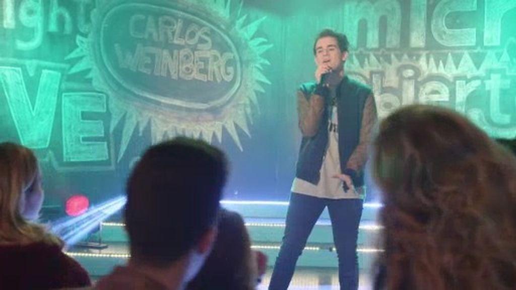 Carlos Weinberg, de 'La voz kids', pone a bailar 'Micro Abierto' con su tema 'Saber'