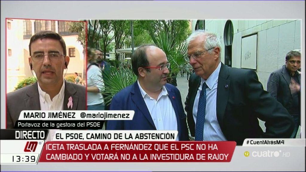La gestora del PSOE insinúa una escisión si el PSC se salta la disciplina de voto