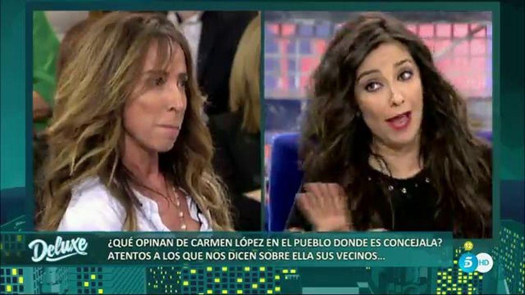 """María Patiño, a Carmen López: """"No estudié periodismo, yo soy 'electa periodista'"""""""