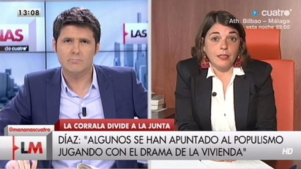 """Elena Cortés: """"Quien está jugando con el drama de la vivienda es el Gobierno del PP"""""""