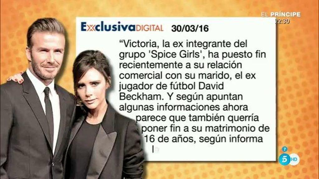 ¿Se van a divorciar Victoria y David Beckham?