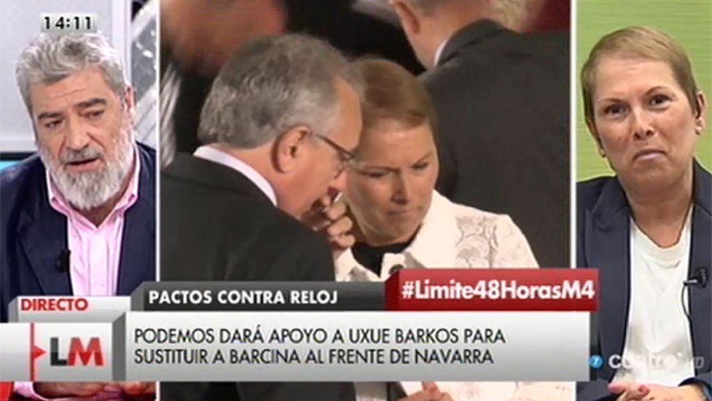"""Uxué Barkos: """"Ser republicano no supone un desprecio a los Reyes, es un posicionamiento político"""""""