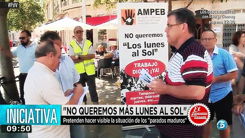 """""""No queremos más lunes al sol"""" es el lema de una asociación de desempleados mayores de 45 años"""