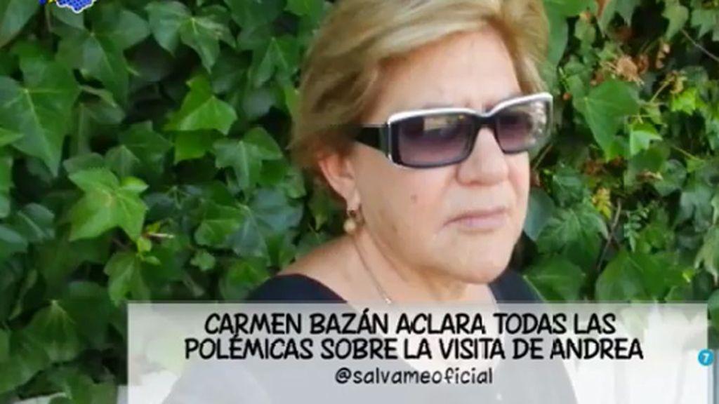 Carmen Bazán niega que Jesulín se haya ausentado de casa durante la visita de su hija