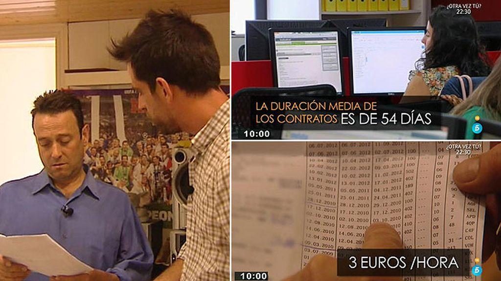 Contratos precarios, una realidad que afecta a 2,5 millones de personas en España