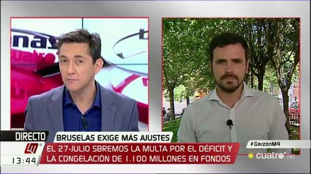 """Alberto Garzón: """"Tenemos que impedir que el PP tenga la mesa del Congreso"""""""