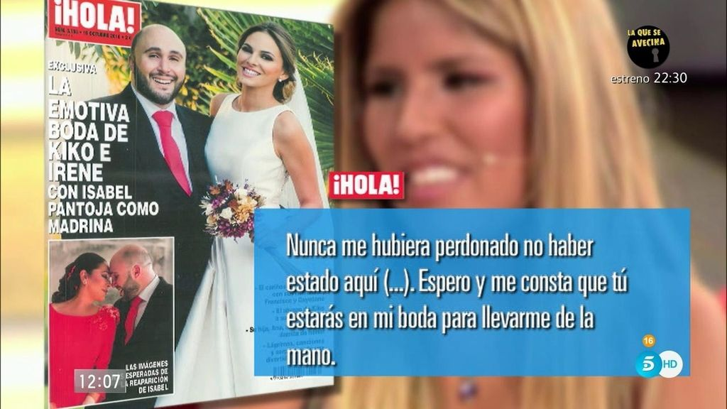 "Isa Pantoja, a Kiko: ""Te sigo necesitando en mi vida. Te quiero mucho, hermano"""