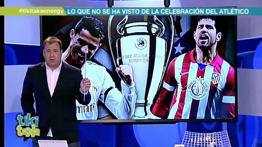 Así celebrarían la fiesta de la Champions de ganarla el Real Madrid o el Atleti
