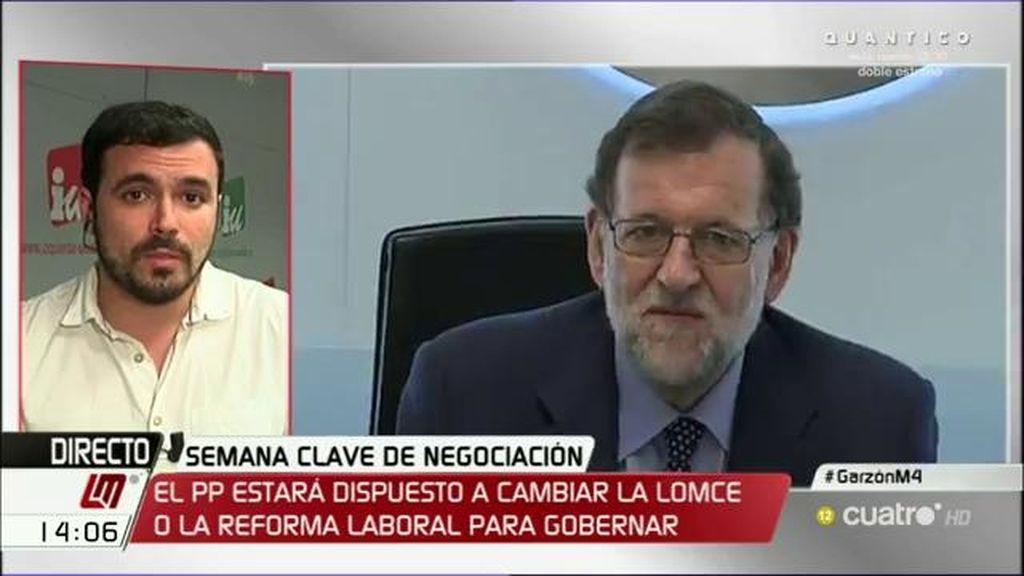 """A. Garzón, sobre el PSOE: """"No quieren ser quienes faciliten el gobierno, quieren que otros le hagan el trabajo sucio"""""""