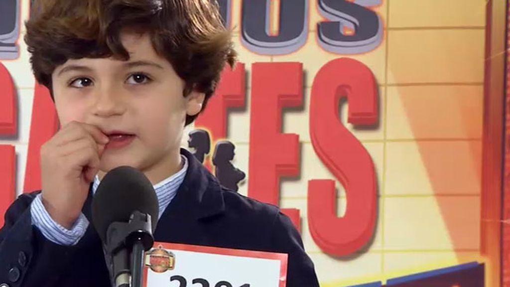 Alfonso, un pequeño Diego Torres que olvida la letra de la canción