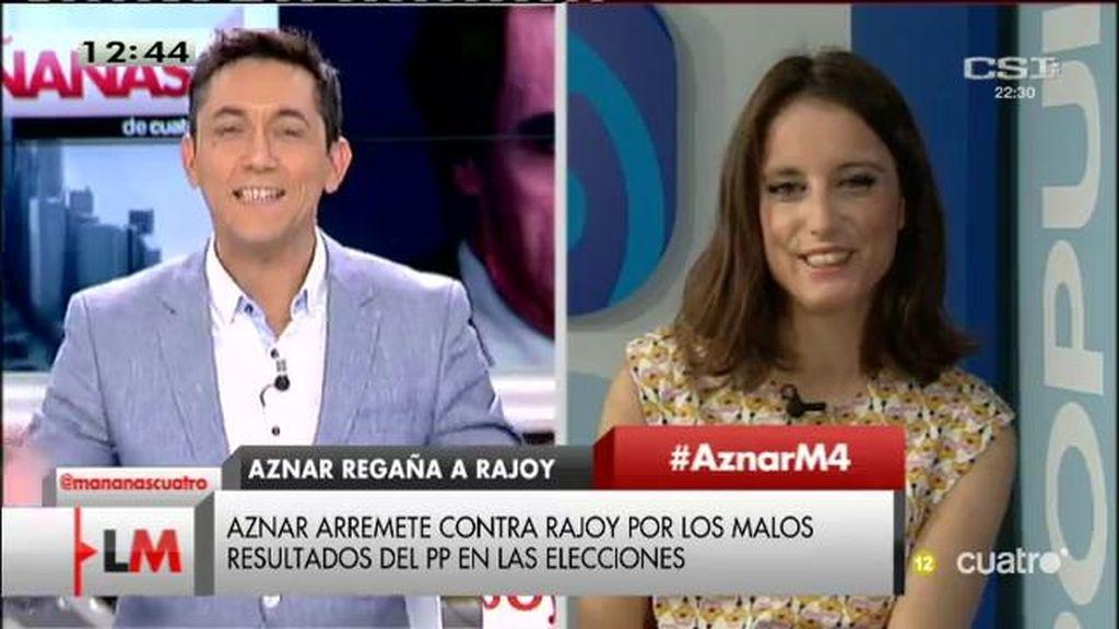 """Andrea Levy, sobre Aznar: """"Es un militante más y puede manifestarse sobre el PP"""""""