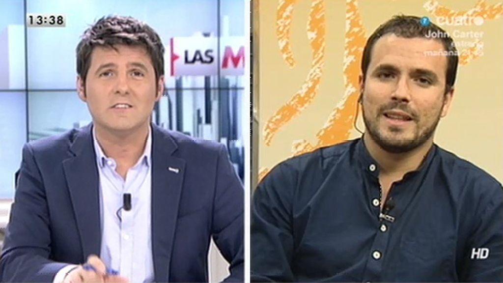 La entrevista con Alberto Garzón, online