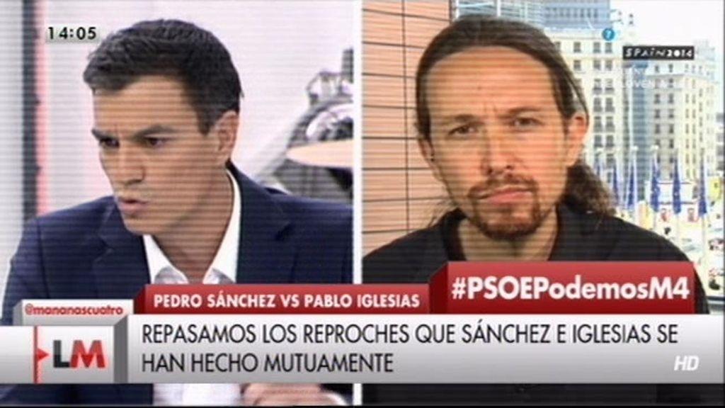 La guerra dialéctica entre Pablo Iglesias y Pedro Sánchez