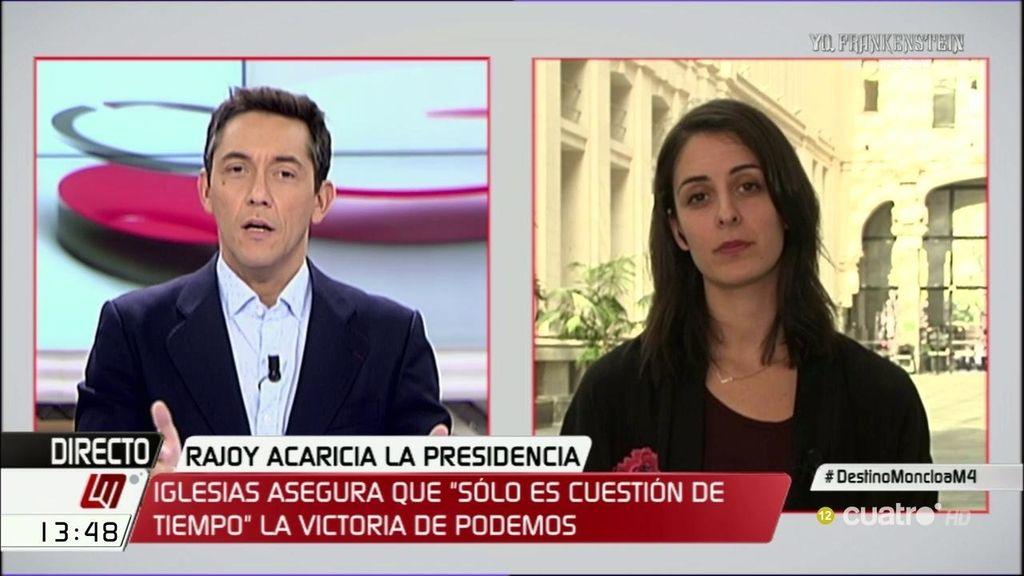 """R. Maestre: """"La presidenta del Congreso se comporta como una portavoz del PP"""""""