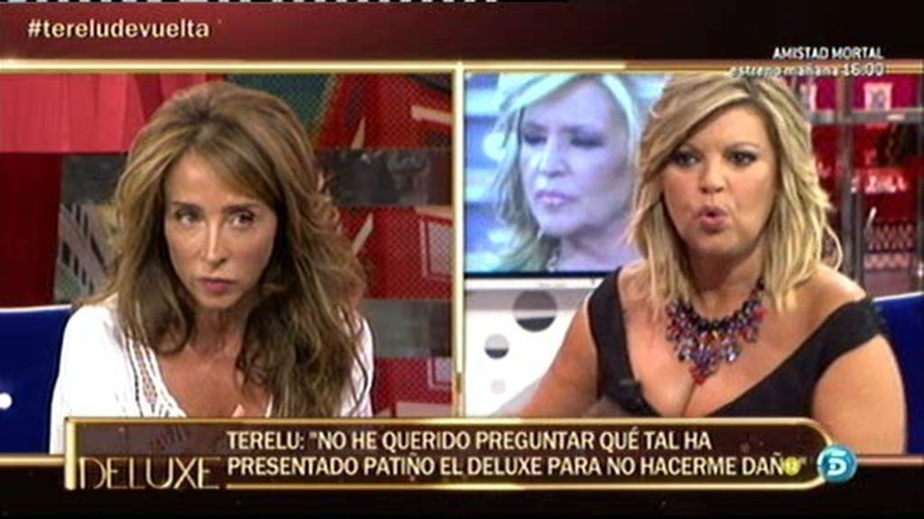"""María Patiño, a Terelu Campos: """"Me importa tu opinión profesional"""""""