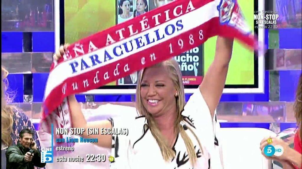 """Belén celebra el triunfo del Atlético de Madrid: """"¡Ahí estamos!"""""""