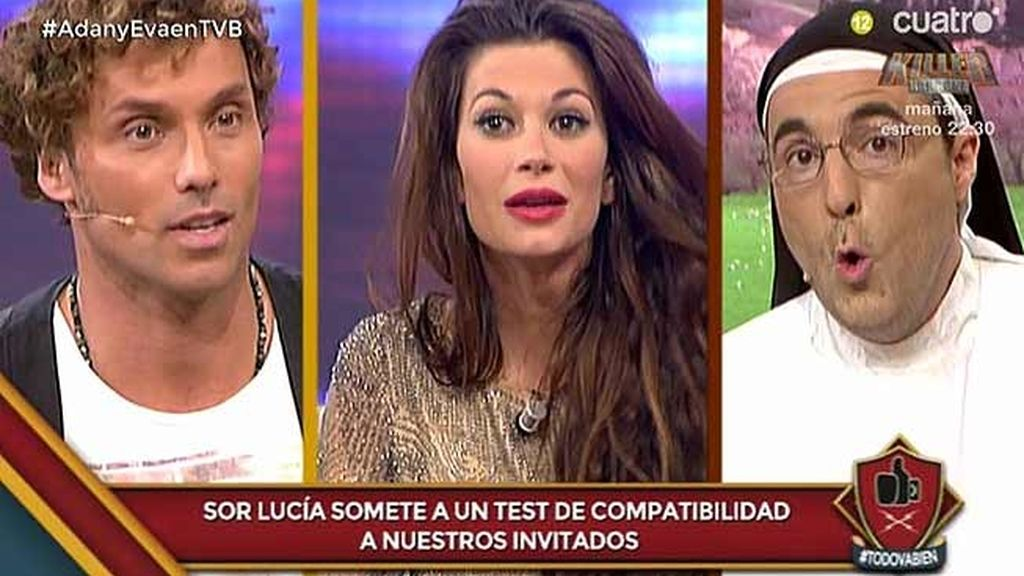 Sor Lucía les hace un test de compatibilidad a Miriam e Iván, de 'Adán y Eva'