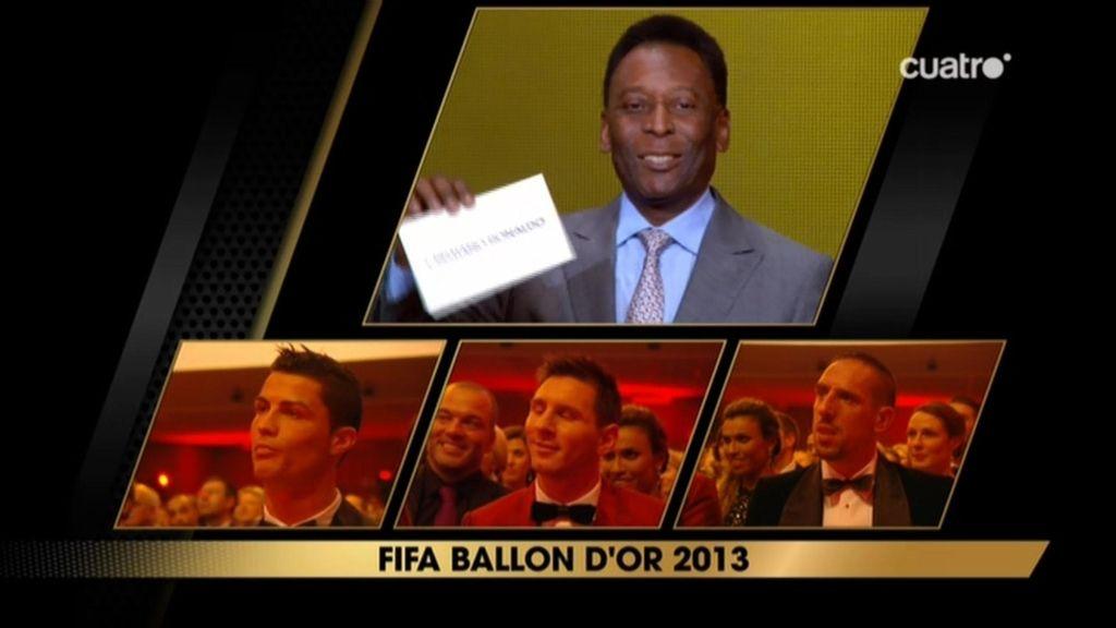 Pelé anuncia a Cristiano Ronaldo como ganador del Balón de Oro 2013