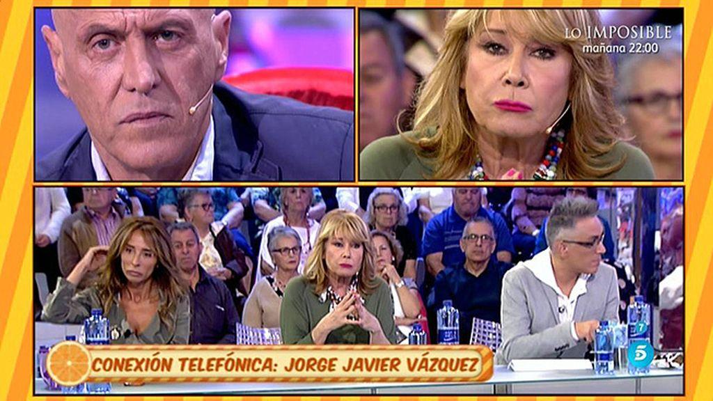 J.J. Vázquez interviene en 'Sálvame' para poner paz entre Kiko M. y  Mila Ximénez