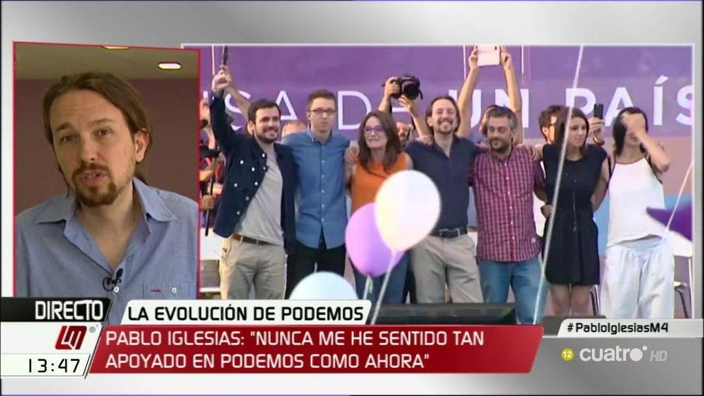 """Pablo Iglesias: """"Me siento más apoyado que nunca en Podemos, ahora bien, cuando entienda que no sumo, doy un paso atrás"""""""