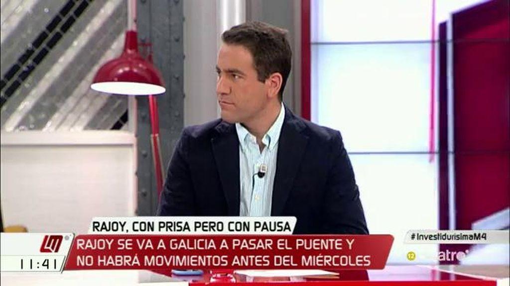 """T. García Egea (PP): """"Hay interés en hacer cree que se aplaza pero toda negociación necesita un trabajo importante detrás"""""""