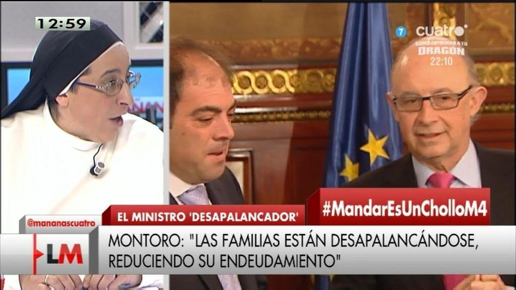 """Sor Lucía: """"Montoro vive en el país de las maravillas"""""""