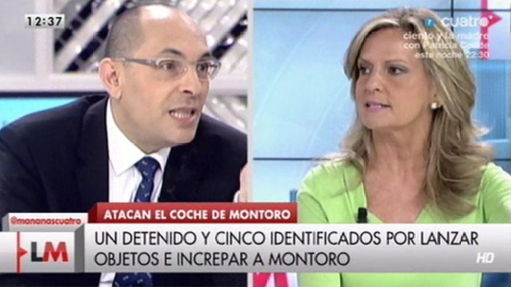 "San Sebastián, a E. Silva, sobre el ataque al coche de Montoro: ""Juez, condene esto"""